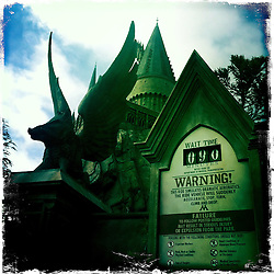 90 minute wait for The Wizarding World of Harry Potter at Universal Orlando Resort. Orlando holiday 2012. Photo taken with the Hipstamatic photo application on Apple iPhone 4.