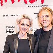 NLD/Amsterdam/20160617 - The Art of Banksy - Opening night, Stacey Rookhuizen en .......