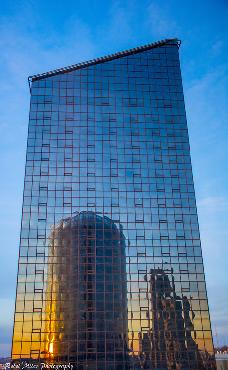 JW Marriot In Grand Rapids Reflects In The Adjoining Building.