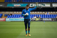 Ipswich Town goalkeeper Bartosz Bialkowski (33) warming up before the EFL Sky Bet Championship match between Ipswich Town and Fulham at Portman Road, Ipswich, England on 26 August 2017. Photo by Phil Chaplin.