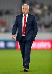 Wales Head Coach Warren Gatland ahead of the 2019 Rugby World Cup bronze final match at Tokyo Stadium.
