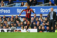 Junior Stanislas of Bournemouth in action as Everton Manager Ronald Koeman looks on. Premier league match, Everton vs Bournemouth at Goodison Park in Liverpool, Merseyside on Saturday 23rd September 2017.<br /> pic by Chris Stading, Andrew Orchard sports photography.