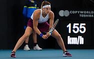Aryna Sabalenka of Belarus in action during the quarter-finals at the 2020 Adelaide International WTA Premier tennis tournament agasinst Simona Halep of Romania. Photo Rob Prange / Spain ProSportsImages / DPPI / ProSportsImages / DPPI