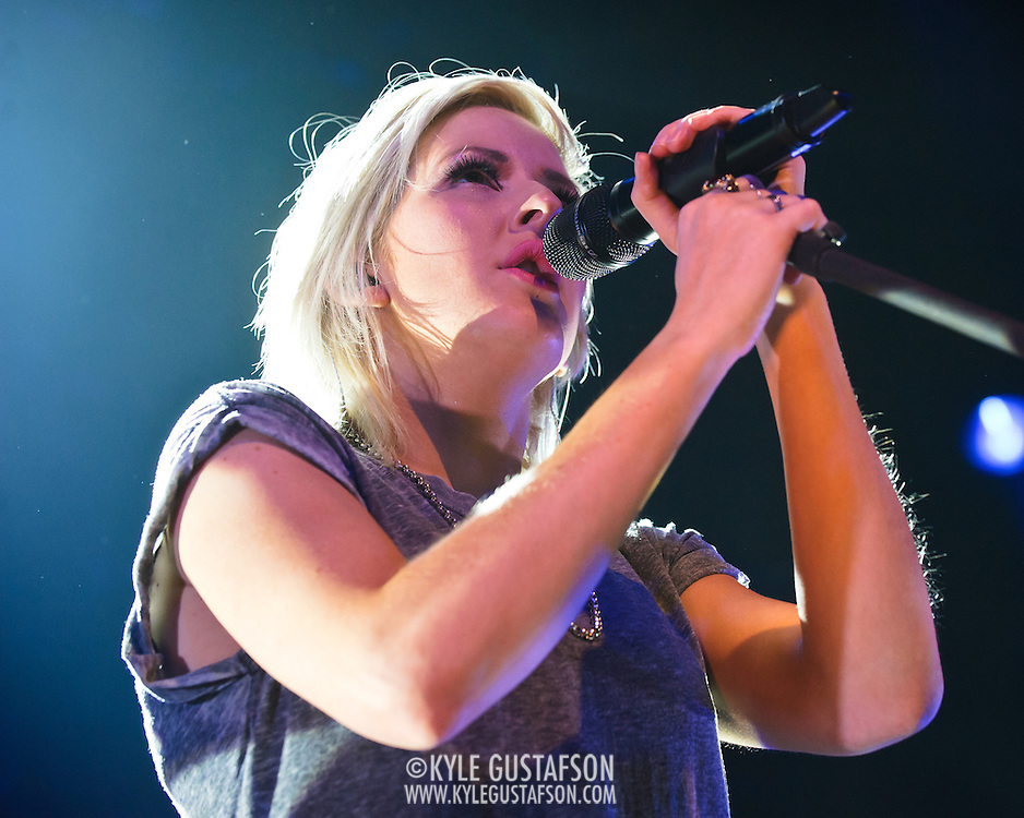 """SILVER SPRING, MD- January 20th, 2013 - English singer-songwriter Ellie Goulding performs at the Fillmore Silver Spring in Silver Spring, MD. Following the success of her 2011 single, """"Lights,"""" her sophomore album """"Halcyon"""" debuted at number two on the UK Albums Chart, and number nine on the US Billboard Chart. ( Photo by Kyle Gustafson/For The Washington Post)"""