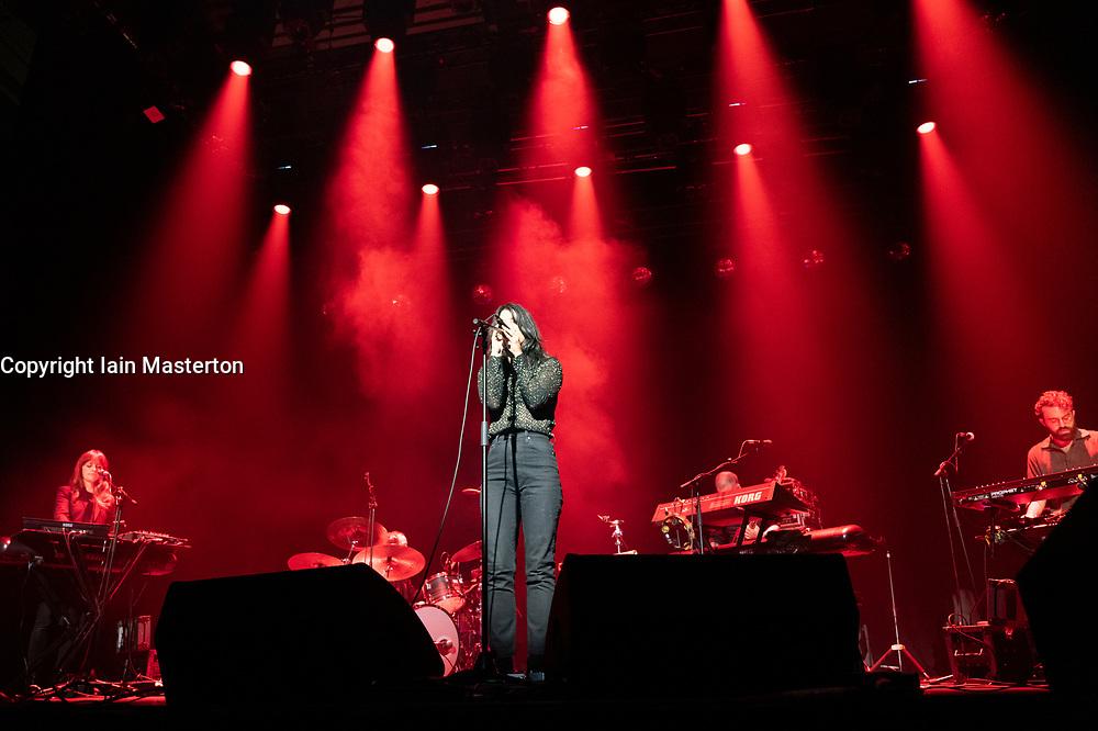 Edinburgh, Scotland, UK. 21 August 2019. Sharon Van Etten plays a  concert at Leith Theatre as part of Edinburgh International Festival. Iain Masterton/Alamy Live News.