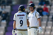 Adam Lyth of Yorkshire and Gary Ballance of Yorkshire during the Specsavers County Champ Div 1 match between Hampshire County Cricket Club and Yorkshire County Cricket Club at the Ageas Bowl, Southampton, United Kingdom on 11 April 2019.