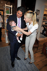 GEORGE VERONI, his wife TAMARA BECKWITH and their daughter VIOLET at 'Paint Your Polo Celebration' a children's party in aid of the charity Clic Sargent held at Ralph Lauren, 139/141 Fulham Road, London on 28th April 2009.