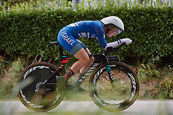 Rotem Gafinovitz (ISR) at the 2020 UEC Road European Championships - Elite Women ITT, a 25.6 km individual time trial in Plouay, France on August 24, 2020. Photo by Sean Robinson/velofocus.com
