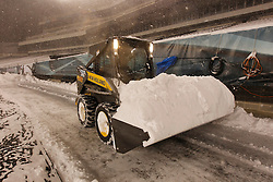 Crews remove snow from the field at Lincoln Financial Field in Philadelphia, Pennsylvania on Sunday December 26th 2010. (Photo By Brian Garfinkel)
