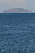 View of Desecheo Island from Rincon, Puerto Rico.