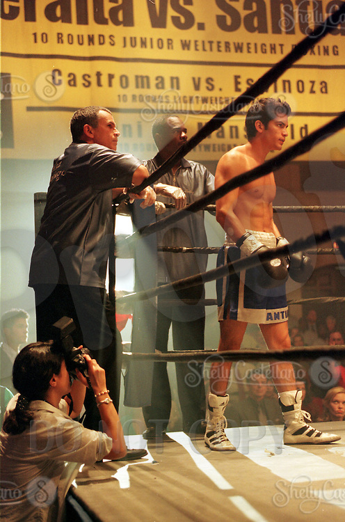 Jun 20, 2000:  Behind the scenes on the television set show boxing photo of actor NICHOLAS GONZALEZ showtime network show 'Resurrection Blvd.' Nicholas Gonzalez File Photo.  Was active in 53 episodes playing character Alex Santiago from 2000-2002.