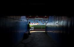 A tunnel at Villa Park - Photo mandatory by-line: Robbie Stephenson/JMP - Mobile: 07966 386802 - 07/04/2015 - SPORT - Football - Birmingham - Villa Park - Aston Villa v Queens Park Rangers - Barclays Premier League