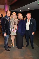 Left to right, GEORGE & LEONORA BAMFORD and his parents LORD & LADY BAMFORD at a Night of Disco in aid of Save The Children held at The Roundhouse, Chalk Farm Road, London on 5th March 2015.