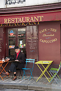 Cafe in the Montmartre neighborhood of Paris.