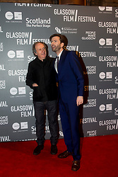 Robert Mullan, director, with David Tennant attending the World Premiere of Mad To Be Normal, the closing gala of the Glasgow Film Festival, held at the GFT.