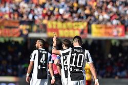 April 7, 2018 - Benevento, Italy - Paulo Dybala of Juventus celebrates scoring third goal during the Serie A match between Benevento and Juventus at Ciro Vigorito Stadium, Benevento, Italy on 7 April 2018. (Credit Image: © Giuseppe Maffia/NurPhoto via ZUMA Press)