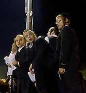 An estimated 70,000 members of an ultra-Orthodox Jewish community attend a bonfire celebration making the Jewish holiday of Lag Baomer, Saturday, May 17, 2014 in Kiryas Joel, N.Y. Local organizers say it is the largest such celebration in the United States. (