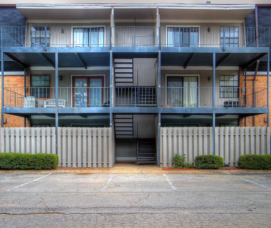 Patios on an urban apartment building