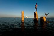 Remanso_BA, 26 de novembro de 2011.<br /> <br /> Ruinas da antiga Remanso, inundada pelas aguas do Lago de Sobradinho<br /> <br /> Foto: LEO DRUMOND / NITRO