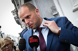 April 28, 2017 - Brussels, BELGIUM - State Secretary for Asylum Policy, Migration and Administrative Simplification Theo Francken arrives for a Minister's council meeting of the Federal Government in Brussels, Friday 28 April 2017. BELGA PHOTO VIRGINIE LEFOUR (Credit Image: © Virginie Lefour/Belga via ZUMA Press)
