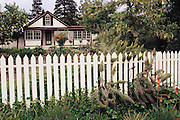 Jack London State Historical Park, in Glen Ellen, California (Sonoma County). London's cottage on rainy day.