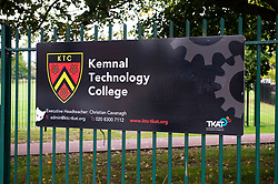 ©Licensed to London News Pictures 11/09/2020  <br /> Sidcup, UK. Kemnal Manor Technology College in Sidcup, South East London have confirmed they recorded a positive coronavirus case this week with a year 10 student. credit:Grant Falvey/LNP
