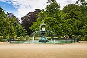 Peacock Fountain at the Botanical Garden, Christchurch, Canterbury, South Island, New Zealand