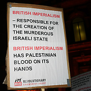 London, England, UK. 7th November 2017. Revolutionary Communist Group and Victory to the Intifada organize a protest against Zionism Racism and the Balfour 100 Concert!. Which Netanyahu attended counter-protest by Pro-Israelis outside Royal Albert Hall.