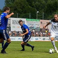 01.08.2020, C-Team Arena, Ravensburg, GER, WFV-Pokal, FV Ravensburg vs SSV Ulm 1846 Fussball, <br /> DFL REGULATIONS PROHIBIT ANY USE OF PHOTOGRAPHS AS IMAGE SEQUENCES AND/OR QUASI-VIDEO, <br /> im Bild Moritz Jeggle (Ravensburg, #5), Samuel Boneberger (Ravensburg, #17), Vinko Sapina (Ulm, #22)<br /> <br /> Foto © nordphoto / Hafner