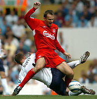 Picture: Henry Browne.Digitalsport<br /> Date: 14/08/2004.<br /> Tottenham Hotspur v Liverpool FA Barclays Premiership.<br /> <br /> Dietmar Hamann of Liverpool is fouled by Sean Davis of Spurs.