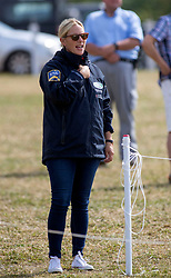 Zara Tindall on the second day of the Festival of British Eventing at Gatcombe Park, Gloucestershire.
