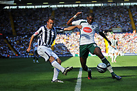 Photo: Tony Oudot/Richard Lane Photography. West Bromwich Albion v Plymouth Argyle. Coca Cola Championship. 12/09/2009. <br /> Kit change! Plymouth had to change kit at half time from white to green.<br /> Roman Bednar of WBA gets in a shot at goal past Reda Johnson of Plymouth