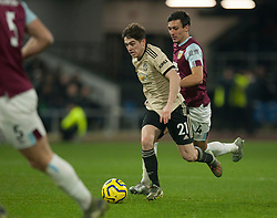 Daniel James of Manchester United and Jack Cork of Burnley (R) in action - Mandatory by-line: Jack Phillips/JMP - 28/12/2019 - FOOTBALL - Turf Moor - Burnley, England - Burnley v Manchester United - English Premier League