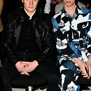 Max Mcgee and Jamie Hannah attend Indonesian Fashion Showcase - Jera at Fashion Scout London Fashion Week AW19 on 16 Feb 2019, at Freemasons' Hall, London, UK.