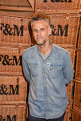 Richard Bacon at the launch of the Fortnum & Mason Christmas & Other Winter Feasts Cook Book by Tom Parker Bowles held at Fortnum & Mason, 181 Piccadilly, London, England. 17 October 2018.