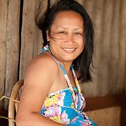 girl in beach hut, Palawan, Philippines