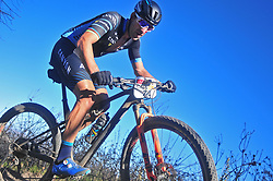 WELLINGTON SOUTH AFRICA - MARCH 23: World MTB Marathon Champion Alban Lakata during stage five's 39km time trial on March 23, 2018 in Wellington, South Africa. Mountain bikers gather from around the world to compete in the 2018 ABSA Cape Epic, racing 8 days and 658km across the Western Cape with an accumulated 13 530m of climbing ascent, often referred to as the 'untamed race' the Cape Epic is said to be the toughest mountain bike event in the world. (Photo by Dino Lloyd)