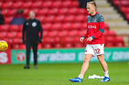 Charlton Athletic midfielder Ben Reeves (12) warms up prior to the EFL Sky Bet League 1 match between Charlton Athletic and AFC Wimbledon at The Valley, London, England on 15 December 2018.