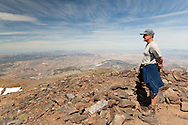 Mike standing on one of the early summits on Los Tres Miles SW-NE traverse, Sierra Nevada National Park, Andalucia, Spain