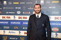 December 3, 2018 - Milan, Italy - Juventus player Giorgio Chiellini during the 'Oscar Del Calcio AIC' Italian Football Awards on December 3, 2018 in Milan, Italy. (Credit Image: © Andrea Diodato/NurPhoto via ZUMA Press)