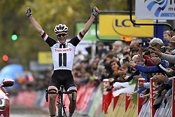 October 7, 2018 - Tours, France - TOURS, FRANCE - OCTOBER 7 :  during the 112th edition of the Paris - Tours Elite cycling race with start in Chartres and finish in Tours on October 07, 2018 in Tours, France, 7/10/2018 (Credit Image: © Panoramic via ZUMA Press)