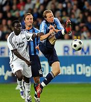 Fotball UEFA kalifisering Rosenborg ( RBK) - Djurgården 28.08.08,<br /> Didier Konan Ya, Markus Johannnesson og Patrik Haginge,<br /> Foto: Carl-Erik Eriksson, Digitalsport