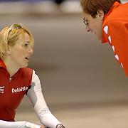 NLD/Heerenveen/20060122 - WK Sprint 2006, 2de 1000 meter dames, Marianne Timmer en Jacques Orie