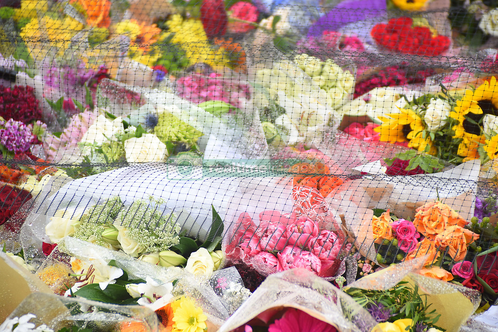 June 6, 2017 - London, England, United Kingdom - Flowers are pictured at the south-side of London Bridge in London on June 6, 2017, placed in memory of the victims of the June 3 terror attacks. Police on Monday identified two of the three London attackers as Khuram Butt and Rachid Redouane, after Britain's third terror assault in less than three months, as Prime Minister Theresa May came under mounting pressure over security just days ahead of elections. (Credit Image: © Alberto Pezzali/NurPhoto via ZUMA Press)