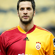 Galatasaray's Hakan BALTA during their Turkish superleague soccer derby match Galatasaray between Fenerbahce at the Turk Telekom Arena in Istanbul Turkey on Friday, 18 March 2011. Photo by TURKPIX