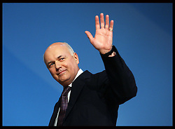 Work and Pensions Secretary Iain Duncan Smith  speech at the Conservative Party Conference hotel in Birmingham,Monday, 8th October October 2012. Photo by: Stephen Lock / i-Images