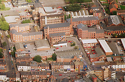 Aerial view of Radford area in Nottingham showing textile mills