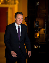 © Licensed to London News Pictures. 04/02/2016. London, UK. British prime minister DAVID CAMERON leaving number 10 Downing Street to greet President of the European Parliament MARTIN SHULZ as negotiations continue to finalise details of an EU reform. Photo credit: Ben Cawthra/LNP