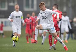 Marcus Gudmann (FC Roskilde) under træningskampen mellem FC Roskilde og FC Helsingør den 15. februar 2020 i Roskilde Idrætspark (Foto: Claus Birch).
