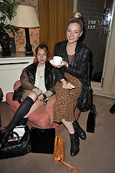 Left to right, Josephine De La Baume and Lady Clara Paget at a screening of Charlotte Olympia's new film 'To Die For' held at Mark's Club, Charles Street, London W1 on 22nd February 2011.